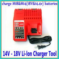 110V/220V For Milwaukee 14V - 18V Lithium-ion battery charger Power Tool For M18 & M14