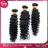 Peruvian Hair Weaves 3pcs/ lot Natural Black Hair 5a Grade Peruvian Deep Wave Curly Virgin Hair Weave