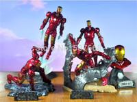 Marvel Egg Iron Man 3 Mark III PVC Action Figure Collectible Model Toy 5pcs/set