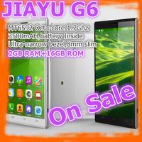 "In Stock Ultra Slim JIAYU G6 MTK6592 Octa Core 3G Smart Phone 13MP Camera 5.7"" OGS Gorilla Glass Screen 2G RAM 16G ROM"