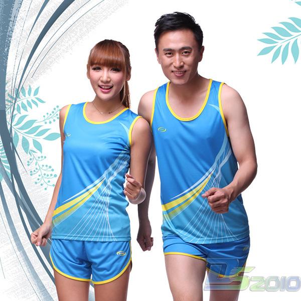 Sleeveless Track Suit Men Women Vest & Shorts Track and Field Training Sportwear(China (Mainland))