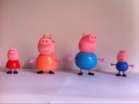 10pcs/lot Peppa Pig Family Toys Set Daddy/Mummy / Pepa/ George Pig Toys Party kids Christmas Gift 5-9cm No Retailling Box
