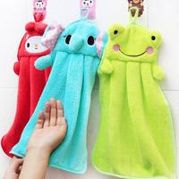 New 2014 Character Hanging Towel 5Colors Cute Animals Baby Hand Towel Cartoon Toalha De Banho Hanging Bath Towel Home Textile