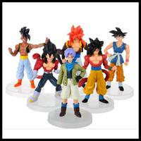 Japanese Anime Dragon Ball Z Action Figure Series Toys 12cm 6pcs./Lot Dragon Ball  Goku Vegeta Trunks Models Toys Free Shipping