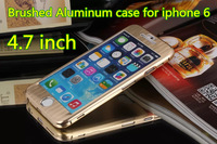New Fantastic Luxury Brushed Aluminum Metal Alloy Full Body Case Cover For iphone 6 4.7 inch Gold