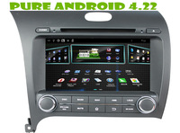 Android 4.22 car dvd gps for Kia CERATO / K3 / FORTE  2013 +1.6g RAM+ 8gB FLASH+3G+DVR + WIFI DONGLE+steering wheel control+