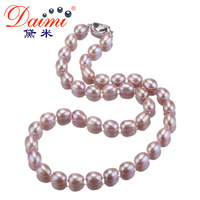 DAIMI Natural Purple Fashion Pearl Necklace For Women Wedding Jewelry Necklace Choker Necklace Hot Sale On Aliexpress VIOLET