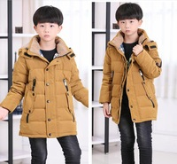 2014 New Kids Children's down jacket and long sections adolescent boys big virgin authentic winter -season specials