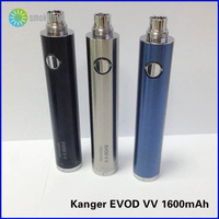 Free Shipping! Black, Stainless, IP Blue Kangertech evod twist battery Kanger evod vv 1600mAh