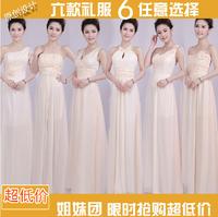 3 Color 6 different style bridesmaid dresses,Original design sweetheart elegant long fashion chiffon vestido de festa,customized