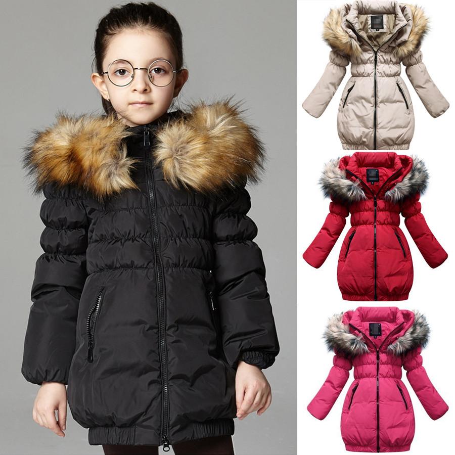 Girl's winter down coat