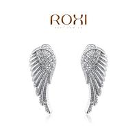 Wholesale ROXI Fashion Jewellery Austrian Crystal Attractive CZ Diamond Angel Wing Stud Earrings Love Gift for Girl