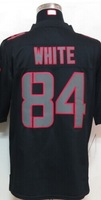 2014 2015 # 84 White Impact Limited Black Jersey New rugby  Elite Embroidery/Sewing logos football jersey
