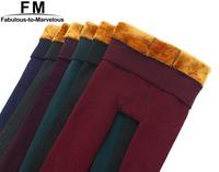 Thick Velvet Elastic Leggings New 2014 Winter Leggings Women's Fashion  Big Size Trousers Pencil Pants Winter Trousers AW14P027