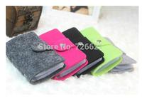 Hot Sale Vintage Fsshion Wool Felt ID Credit Card Holder Pouch Wallet Purse Pocket Handbag up to 24 Cards for Women