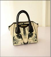 New 2014 Rose cat Oil Painting Bags Women PU Leather Handbags Women  Bags