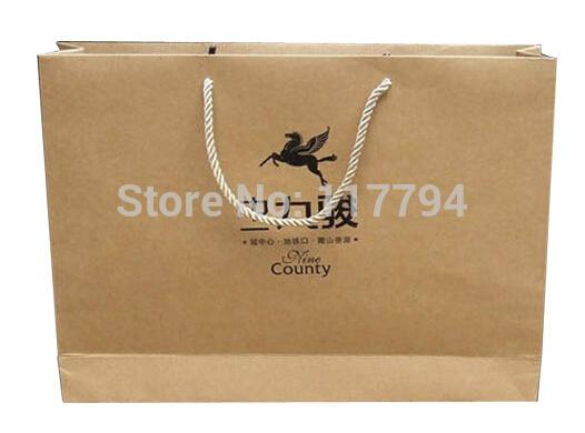Printing Customer Design Brown Kraft Bag, Paper Gift Bags, Shopping Hand Bags(China (Mainland))