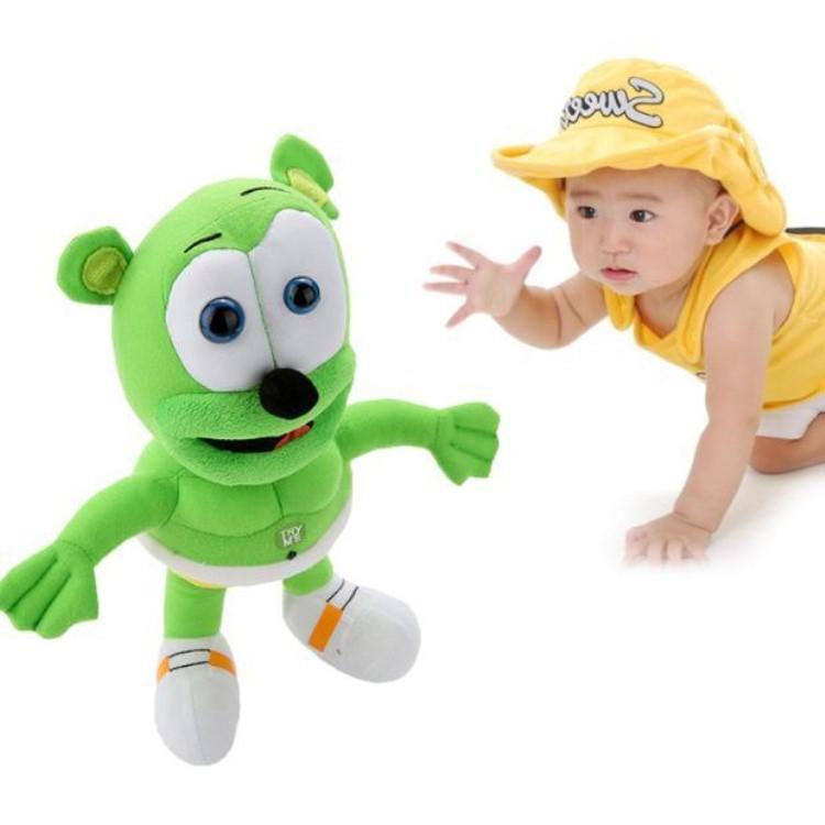 2014 new 30cm Singing I AM A GUMMY BEAR MUSICAL New Gummibar Plush Soft Toy Bear Doll free shipping(China (Mainland))
