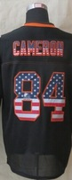 2014 2015 # 84 Cameron USA Flag Fashion Black Elite Jerseys New rugby  Embroidery/Sewing logos football jersey