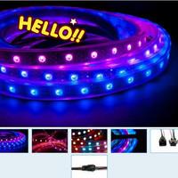 1m 60 LED/m RGB LED Light Strip 5V WS2811IC WS2812B Waterproof Addressable Color