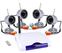 Wireless Video Security Camera System 4 Ch USB DVR CCTV Camera Digital Recorder 4 IR Cameras