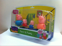 10pcs/lot Peppa Pig Family Doll Party Decorations Peppa Pig/ George Pig Toys Christmas Gift Baby Toys For Girls Free shipping