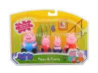 10pcs/lot Peppa Pig Family Toys Set DADDY & MUMMY Pepa/ George Pig Family Toys Set Baby/ kids Gift 4pcs/set With Retail Box