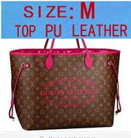1:1 quality Graffiti plaid women genuine/ real leather handbag designer bag M40875 M40938 M40157 large bag colorfull neverfull