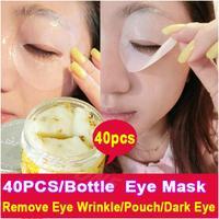 Free Shipping 40PCS/Bottle Golden Osmanthus Eye Mask Anti Wrinkle Remove Eye Pouch Puffiness Dark Eye Moisturiizng  Eye Care