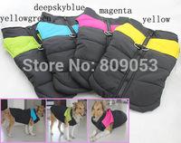 Hot models! large dog bodywarmer clothes big size dogs winter jacket golden retriever warm ski vest 4colors free shipping