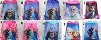 50pcs/lot Factory sale Cartoon frozen princess Drawstring Backpack School Bags Party Favors bag 36*28cm Non Woven Fabric