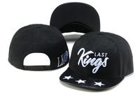 Last kings Snapbacks caps black leather 187 star classic men & women classic baseball hat top quality freeshipping !