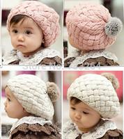 Free shipping Hot Sale 2014 Autumn Winter 1~4 years old children kid's hat knitting wool cap Boys Girls keep warm hat