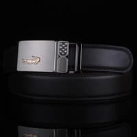 International band classic diamond alloy automatic Crocodile buckle belt men's leather belt leather belt boutique Free Shipping