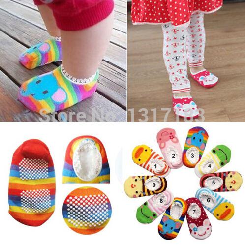 Cute Pattern Unisex Baby Kids Toddler Girl Boy Anti-Slip Socks Shoes Slipper(China (Mainland))