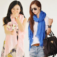 autumn winter Lady Korean star models fold scarf shawl voile candy factory wholesale fashion winter  multicolor free shipping