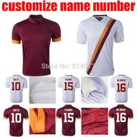 14 15 TOTTI PJANIC DE ROSSI home away white thai quality soccer jersey 2015 TOTTI PJANIC DE ROSSI football shirt totti jersey