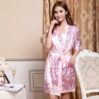 Casual Dormir Dress Women Bathrobe Silk Pajamas Sets For Sleep Ladies Nightwear Nightgown Cardigans Autumn Home Clothing Pijamas