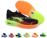 Men Flyknit Max Shoes Green color Men 2014 Flyknit shoes Male Flyknit training shoes size 40-46