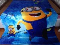 Children's air conditioning blanket cartoon princess Frozen design coral fleece 150*200cm student blanket , freeshipping