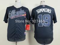 cheap stitched 2014   Atlanta Braves Jerseys19# Andrelton Simmons  baseball jersey/baseball shirt
