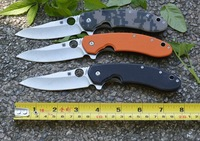 Spyderco C156GPBN Survival Folding Knife 9cr13mov Blade G10 Handle Outdoor Camping Knife