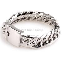 FREE SHIPPING Men's Twill hone romantic style bracelet polished bright 22cmX19mm Send a friend a birthday gift