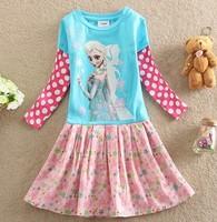 3 Designs Frozen Dress Elsa & Anna Summer Dress baby Girl 2014 New Princess Dresses Brand Girls Dress Children Clothing for baby