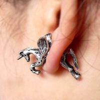 Min.Order $8.8(Mix Order) Free Shippig Hot Selling Cheap Cute Retro Flying Horse Stud Earring FE0144