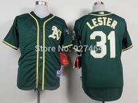 cheap stitched 2014 Oakland Athletics 31 Jon Lester men's baseball jersey/baseball shirt