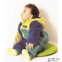 wholesale 5pcs/lot boy gril's clothes fleece padded hooded zipper romper witner baby clothes ,infant thick outerwear