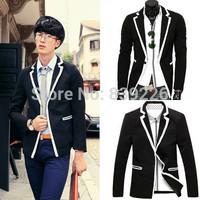 Free shipping hot sale 2014 new arrive autumn fashion men casual slim blazer coat, Business Dress Suit Blazer Men X887