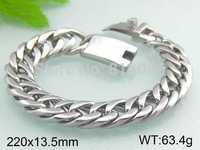 Byzantine chain bracelet Men's Twill hone romantic style bracelet polished bright 22cmX19mm Send a friend a birthday gift