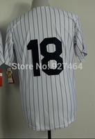 cheap stitched 2014 New York #18 Johnny Damon men's baseball jersey/baseball shirt